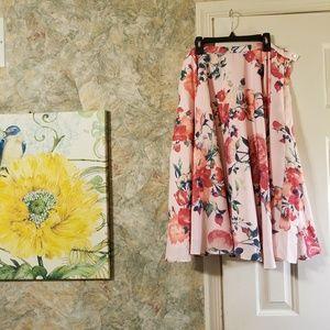 Modcloth | Floral Midi A-Line Skirt